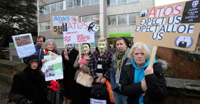 ATOS Gloucester Protest - early shift!