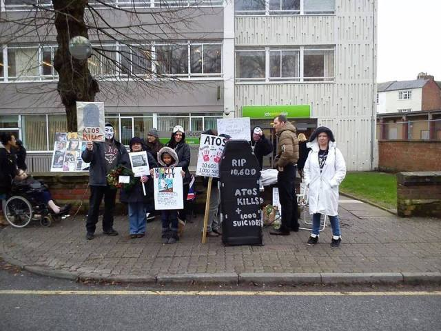 ATOS Gloucester Protest - late shift!