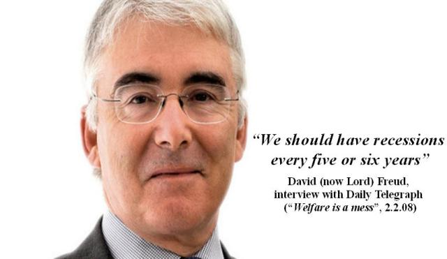 David Freud - ''We should have recessions every five or six years''