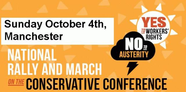 TUC - No to Austerity, 4 Oct, march and rally