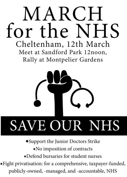 NHS March 12 March