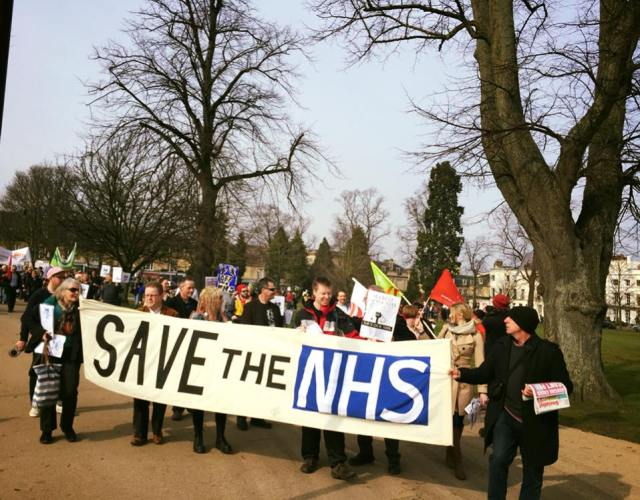 Photo 3 of Cheltenham - March for the NHS. Support Junior Doctors! in Montpellier Gardens