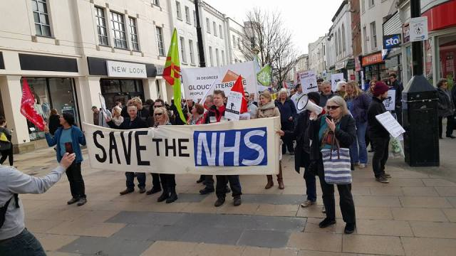 Photo 4 of Cheltenham - March for the NHS. Support Junior Doctors!- in The Strand